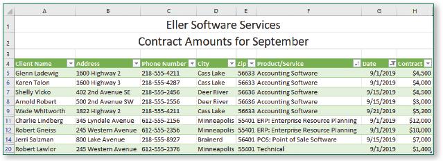 Date header displays filter icon.